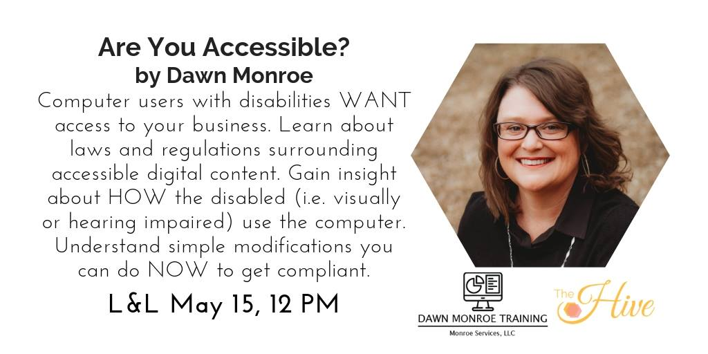 Accessibility Lunch & Learn Graphic